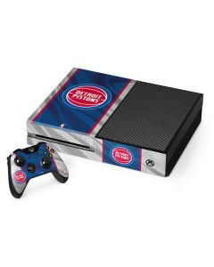 Detroit Pistons Away Jersey Xbox One Console and Controller Bundle Skin
