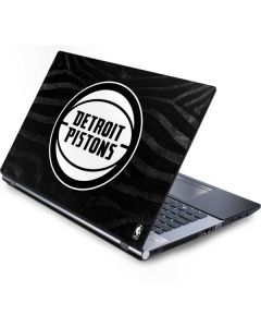 Detroit Pistons Black Animal Print Generic Laptop Skin