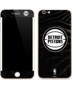 Detroit Pistons Black Animal Print iPhone 6/6s Plus Skin