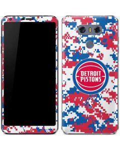 Detroit Pistons Digi Camo LG G6 Skin
