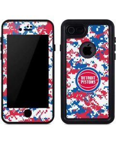 Detroit Pistons Digi Camo iPhone 7 Waterproof Case