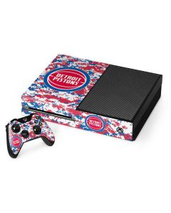Detroit Pistons Digi Camo Xbox One Console and Controller Bundle Skin