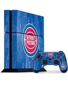 Detroit Pistons Hardwood Classics PS4 Console and Controller Bundle Skin