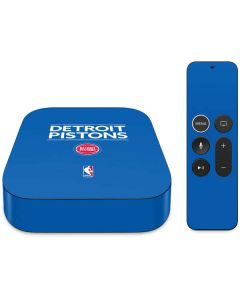 Detroit Pistons Standard - Blue Apple TV Skin