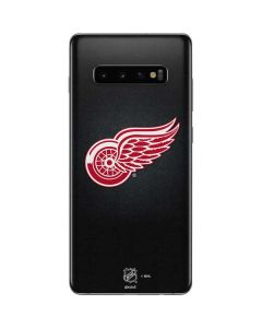 Detroit Red Wings Black Background Galaxy S10 Plus Skin