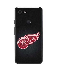 Detroit Red Wings Black Background Google Pixel 3 XL Skin