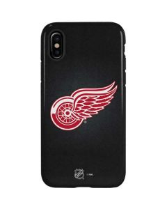 Detroit Red Wings Black Background iPhone X Pro Case
