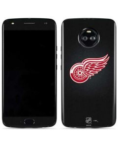 Detroit Red Wings Black Background Moto X4 Skin