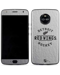 Detroit Red Wings Black Text Moto X4 Skin