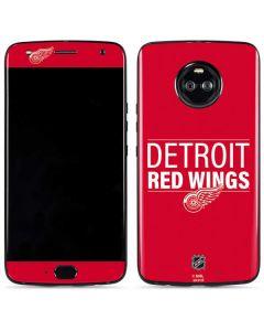 Detroit Red Wings Lineup Moto X4 Skin