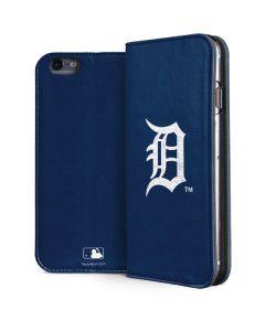 Detroit Tigers - Solid Distressed iPhone 6/6s Plus Folio Case