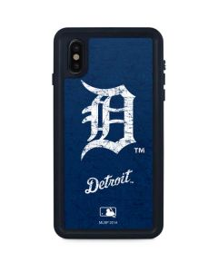 Detroit Tigers - Solid Distressed iPhone XS Max Waterproof Case