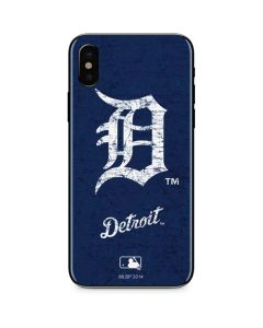 Detroit Tigers - Solid Distressed iPhone XS Skin
