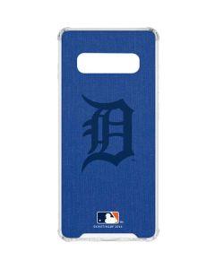 Detroit Tigers Monotone Galaxy S10 Plus Clear Case