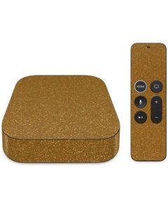 Diamond Gold Glitter Apple TV Skin