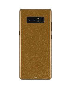 Diamond Gold Glitter Galaxy Note 8 Skin