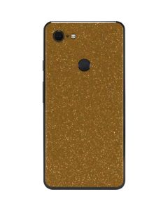 Diamond Gold Glitter Google Pixel 3 XL Skin