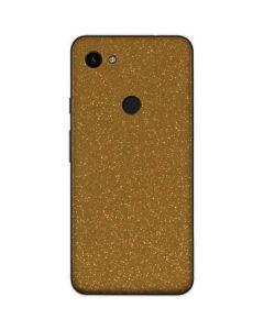 Diamond Gold Glitter Google Pixel 3a Skin