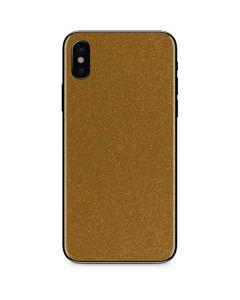 Diamond Gold Glitter iPhone XS Skin