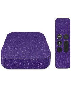 Diamond Purple Glitter Apple TV Skin