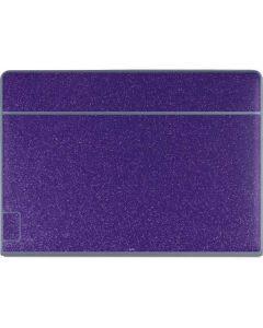 Diamond Purple Glitter Galaxy Book Keyboard Folio 12in Skin
