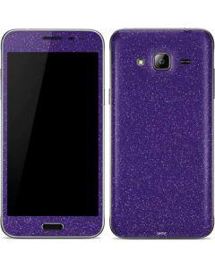 Diamond Purple Glitter Galaxy J3 Skin