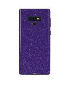 Diamond Purple Glitter Galaxy Note 9 Skin