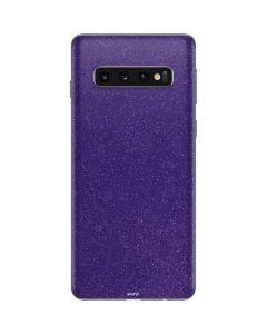 Diamond Purple Glitter Galaxy S10 Skin