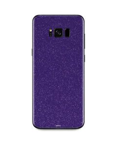 Diamond Purple Glitter Galaxy S8 Skin
