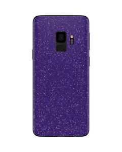 Diamond Purple Glitter Galaxy S9 Skin
