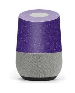 Diamond Purple Glitter Google Home Skin