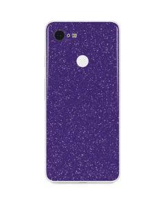 Diamond Purple Glitter Google Pixel 3 Skin