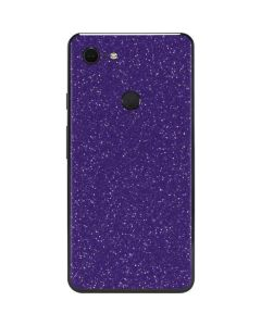 Diamond Purple Glitter Google Pixel 3 XL Skin