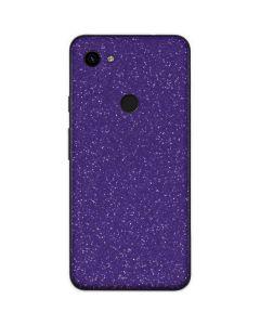 Diamond Purple Glitter Google Pixel 3a Skin