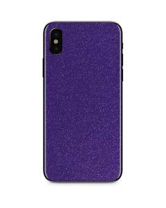 Diamond Purple Glitter iPhone XS Skin