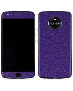 Diamond Purple Glitter Moto X4 Skin