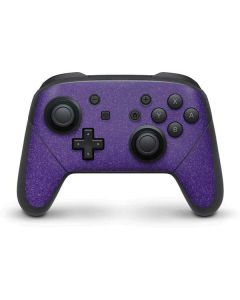 Diamond Purple Glitter Nintendo Switch Pro Controller Skin