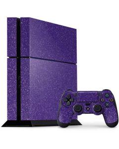 Diamond Purple Glitter PS4 Console and Controller Bundle Skin