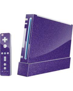 Diamond Purple Glitter Wii (Includes 1 Controller) Skin