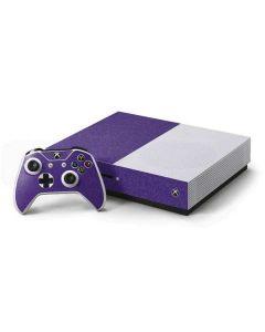 Diamond Purple Glitter Xbox One S Console and Controller Bundle Skin
