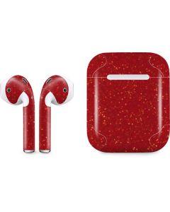 Diamond Red Glitter Apple AirPods Skin