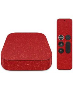 Diamond Red Glitter Apple TV Skin