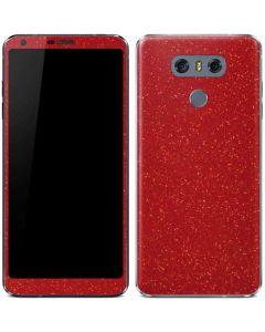 Diamond Red Glitter LG G6 Skin