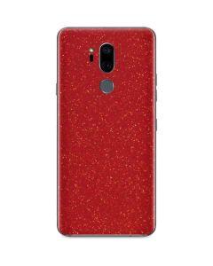 Diamond Red Glitter G7 ThinQ Skin