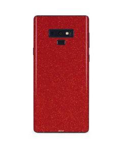 Diamond Red Glitter Galaxy Note 9 Skin