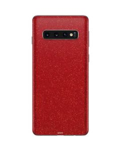 Diamond Red Glitter Galaxy S10 Skin
