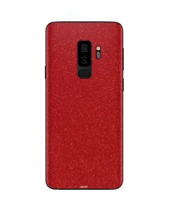 Diamond Red Glitter Galaxy S9 Plus Skin
