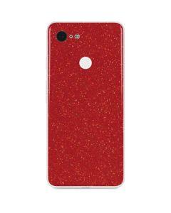 Diamond Red Glitter Google Pixel 3 Skin