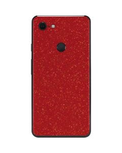Diamond Red Glitter Google Pixel 3 XL Skin