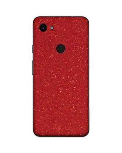 Diamond Red Glitter Google Pixel 3a Skin